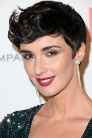 Paz Vega got playful with her hair for the Weinstein Company and Netflix Golden Globes party, wearing it brushed forward with flippy bangs.