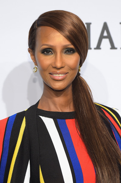 Iman's Sleek Side Ponytail