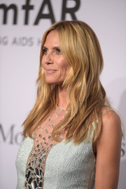 Heidi Klum worked a beach-chic wavy 'do at the amfAR New York Gala.