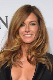 Kelly Bensimon was fabulously coiffed with windswept waves at the amfAR New York Gala.