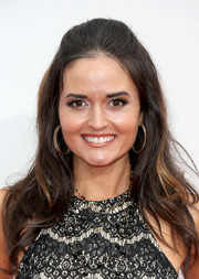 Danica McKellar stayed classic with this half-up hairstyle at the 2016 AMAs.