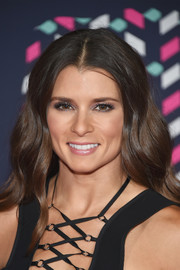 Danica Patrick glammed it up with this long wavy 'do at the 2016 CMT Music Awards.