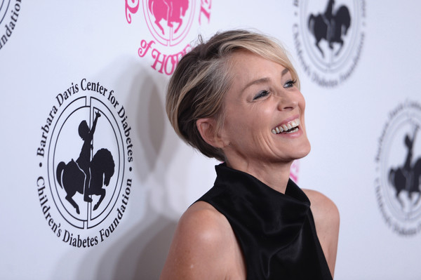 Sharon Stone looked trendy with her wedge cut at the 2016 Carousel of Hope Ball.