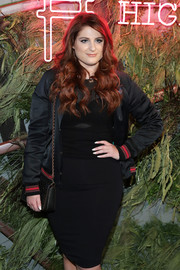 Meghan Trainor attended the Coach and Friends of the High Line Summer Party carrying a chic studded shoulder bag.