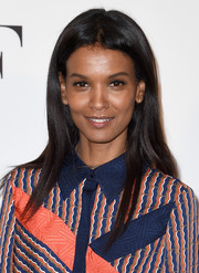 Liya Kebede kept it casual with this loose straight 'do at the DVF Awards.