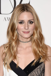 Olivia Palermo attended the DVF Awards wearing her signature center-parted waves.