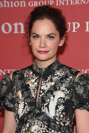 Ruth Wilson swept her hair back into a messy-chic updo for the 2016 Fashion Group International Night of Stars Gala.