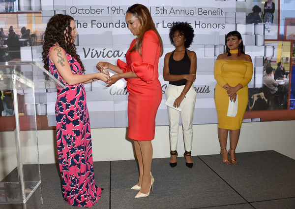 More Pics of Vivica A. Fox Ombre Hair (1 of 29) - Vivica A. Fox Lookbook - StyleBistro [fashion,yellow,beauty,event,dress,fashion design,leg,advertising,fashion accessory,flooring,sarah carson,vivica a. fox,award,new york city,iac building,2016 foundation for letters,foundation,letters strategic planning committee,5th annual foundation for letters gala]