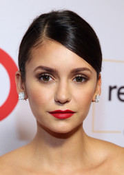 Nina Dobrev showed off perfect red lips at the 2016 GLSEN Respect Awards.