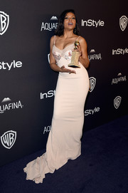 Taraji P. Henson looked sensual in a lingerie-inspired gown by Stella McCartney at the InStyle and Warner Bros. Golden Globes post-party.