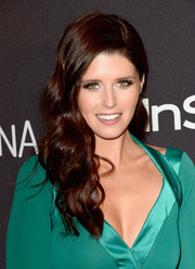Katherine Schwarzenegger looked lovely with her long wavy 'do at the InStyle and Warner Bros. Golden Globes post-party.
