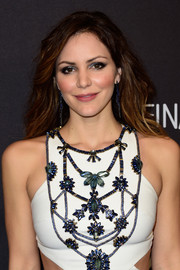 Katharine McPhee highlighted her eyes with a smoky application of metallic shadow.