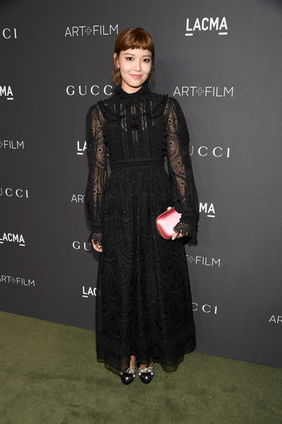 Han Hyo-Joo in a sheer lace dress