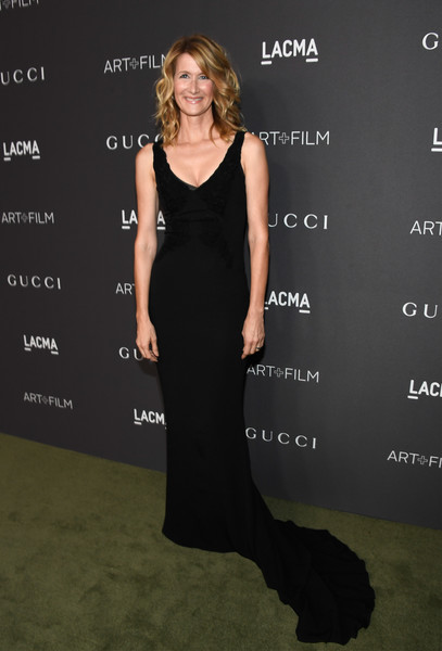 Laura Dern in a floor-skimming dress