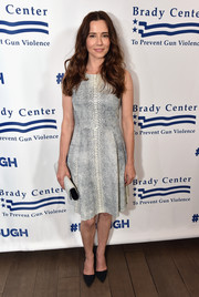 Linda Cardellini walked on the wild side in this snakeskin-print dress during the Los Angeles Brady Bear Awards Gala.