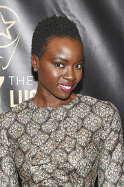 Danai Gurira went natural with this short curly 'do at the 2016 Lucille Lortel Awards.