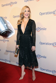 Kate Hudson ensured all eyes were on her when she wore this Derek Lam beaded LBD with a navel-grazing neckline to the Operation Smile Gala.