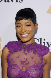 Keke Palmer wore a summer-chic pixie at the Pre-Grammy Gala.