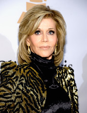 Jane Fonda showed off a perfectly styled shag at the Pre-Grammy Gala.