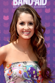 Laura Marano styled her long hair with spiral curls for the Radio Disney Music Awards.
