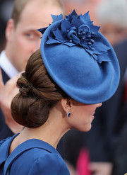 Kate Middleton paid tribute to her host country with this maple leaf hat by Sylvia Fletcher for Lock & Co.