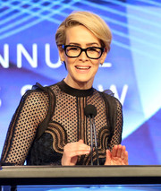 Sarah Paulson wore a neat side-parted hairstyle at the Television Critics Association Awards.