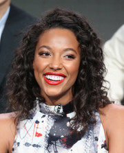 Kylie Bunbury looked cute with her tight curls at the 2016 Summer TCA Tour.