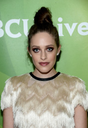 Carly Chaikin rocked a sky-high knot at the NBCUniversal Summer TCA Tour.