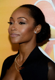 Yaya DaCosta opted for a classic bun when she attended the NBCUniversal Summer TCA Tour.