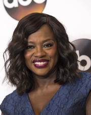 Viola Davis looked fab with her shoulder-length curls at the Disney ABC Summer TCA Tour.