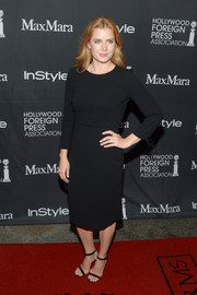 Amy Adams went low-key in a long-sleeve LBD by Max Mara at the TIFF/InStyle/HFPA party.