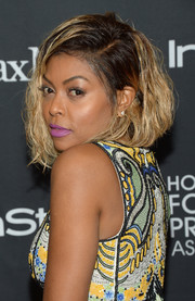 Taraji P. Henson sported a mildly messy curled-out bob at the TIFF/InStyle/HFPA party.