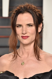 Juliette Lewis pulled off this messy milkmaid braid at the Vanity Fair Oscar party.