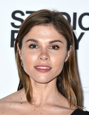Emily Weiss opted for a fuss-free straight hairstyle when she attended the Whitney Studio party.