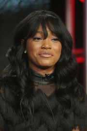 Keke Palmer went boho with this wavy 'do for the Winter TCA Tour.