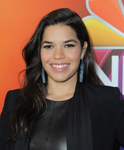 America Ferrera sported soft waves at the NBCUniversal Press Tour.