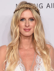 Nicky Hilton channeled her inner boho goddess with this partially braided wavy hairstyle for the amfAR New York Gala.