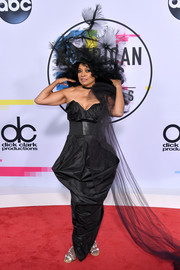 Diana Ross was goth-glam in a structured strapless gown by Vivienne Westwood at the 2017 American Music Awards.