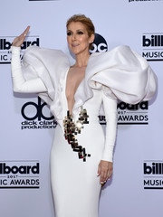 Celine Dion matched her gown with a white mani at the 2017 Billboard Music Awards.