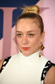 Chloe Sevigny swept her hair back into a tight top knot for the 2017 CFDA Fashion Awards.