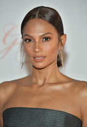 Alesha Dixon slicked her hair back into a center-parted ponytail for the Global Gift Gala during the 2017 Dubai International Film Festival.