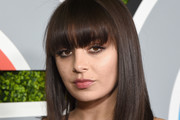 Medium Straight Cut with Bangs