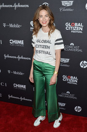 Michelle Monaghan dressed down in a T-shirt for the 2017 Global Citizen Festival.
