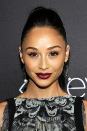 Cara Santana looked fabulous wearing this teased ponytail at the InStyle and Warner Bros. Golden Globes post-party.