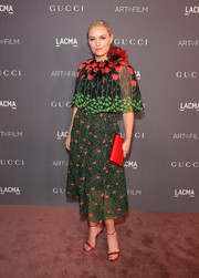 Lindsey Vonn went the ultra-feminine route with this caped floral frock by Gucci at the 2017 LACMA Art + Film Gala.