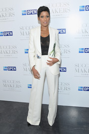 Tamron Hall's butterfly-and-foliage-print pantsuit at the 2017 Success Makers Summit was a playfully chic way to do business dressing!