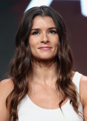 Danica Patrick looked oh-so-pretty with her long, center-parted waves at the 2017 Summer TCA Tour.