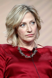Edie Falco sported a short wavy cut at the 2017 Summer TCA Tour.