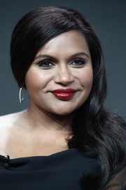 Mindy Kaling worked a bold red lip at the 2017 Summer TCA Tour.