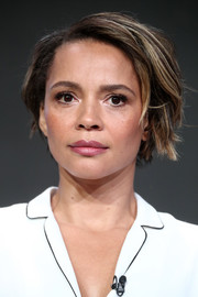 Carmen Ejogo looked stylish with her layered bob at the 2017 Summer TCA Tour.